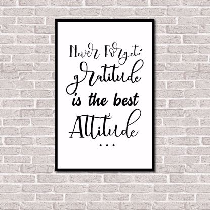 Imagem de Quadro Decorativo Never Forget Gratitude Is The Best Attitude